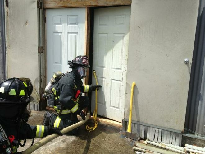 Central Whidbey Island Fire & Rescue members practice door control